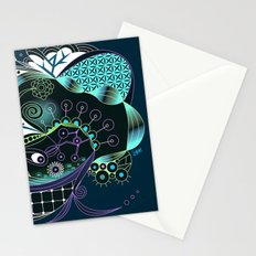Winter tangle night Stationery Cards