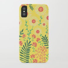 A Yellow Flowery Pattern iPhone X Slim Case