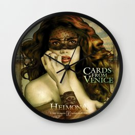 HEIMONA - CARDS FROM VENICE Wall Clock