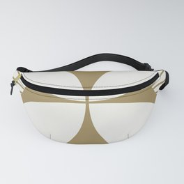 Diamond Series Floral Cross Gold on White Fanny Pack