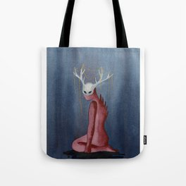 Forest Creature with golden antlers Tote Bag
