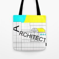 architect Tote Bags featuring ARCHITECT-2 by Art-xigo