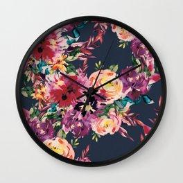 Secret Blooms Wall Clock