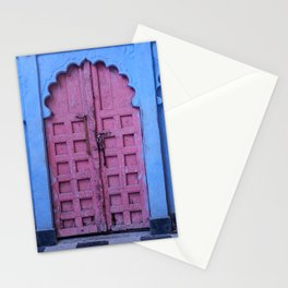 Pink Door In The Blue City, Jodhpur Stationery Cards