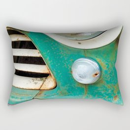 Rusty Turquoise Car Rectangular Pillow