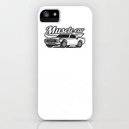 Muscle retro car iPhone Case