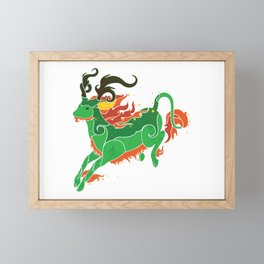 Qilin Framed Mini Art Print