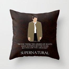 Supernatural - Castiel Throw Pillow