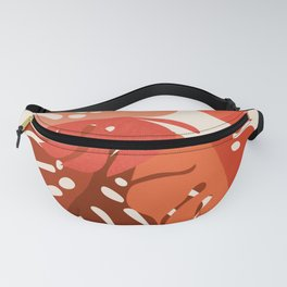 Abstraction_MONSTERA_TROPICAL_ART_Minimalism_001A Fanny Pack