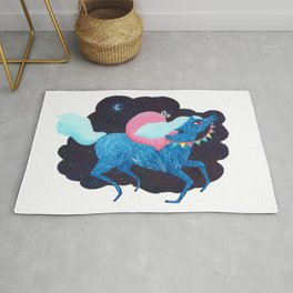 Death on a horse fairy tale illustration Rug
