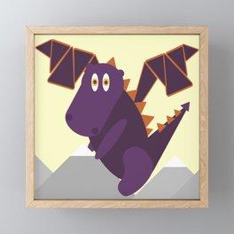 Casey the Dragon Framed Mini Art Print