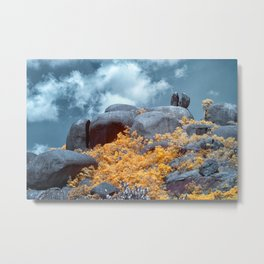 Cracked Big Rock Metal Print