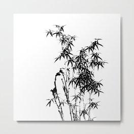 Japanese Ink Bamboo Metal Print