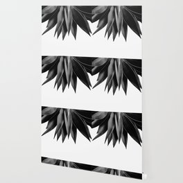 Agave fringe - noir Wallpaper