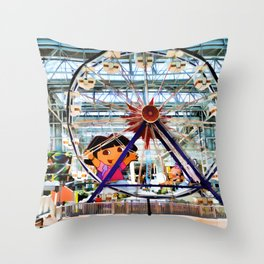Nickelodeon Universe indoor amusement park 2 Throw Pillow