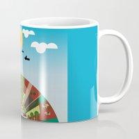 farm Mugs featuring Farm by Design4u Studio