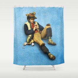 The Piper of Hamelin Shower Curtain