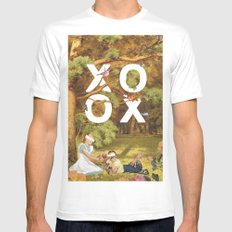 Oh, xoxo... SMALL White Mens Fitted Tee