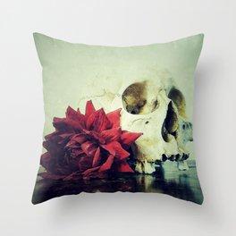 Vanitas Blood Red Throw Pillow