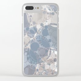 Round & Round Smoke & Steel Clear iPhone Case