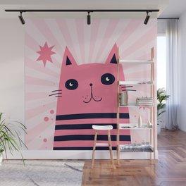 Dreaming Kitty Wall Mural