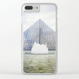 Louvre Pyramid Paris France Clear iPhone Case