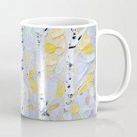 birch Mugs featuring October Birch by Ann Marie Coolick