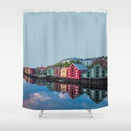 Trondheim, Norway Travel Artwork Shower Curtain