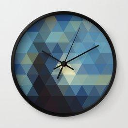 Starry Night Mosaic Wall Clock