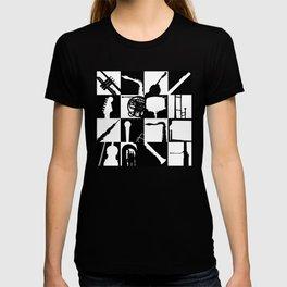 Pop Music Art B&W T-shirt