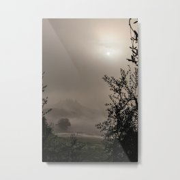 A mysterious foggy morning Metal Print