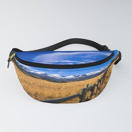 Distant Bighorns - Mountain Scenery in Northern Wyoming Fanny Pack