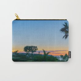 Palm Sunrise Over Corona Del Mar Carry-All Pouch