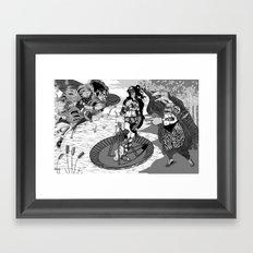 Birth Of Venus Reimagined Framed Art Print