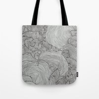 the strokes Tote Bags featuring Strokes by Sarah Renee G.