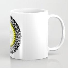 Black and Yellow Kaleidoscope Sunburst Coffee Mug