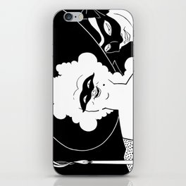 Carnival or Masquerade Ball black and white art iPhone Skin
