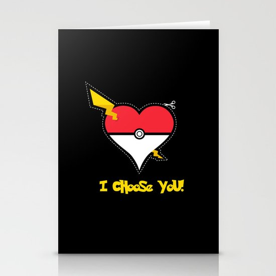 Valentine, I Choose You! Stationery Cards
