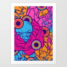 Infants in blossom Art Print