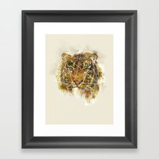 Geo Tiger Framed Art Print