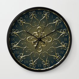 Golden Nemo Pattern Wall Clock
