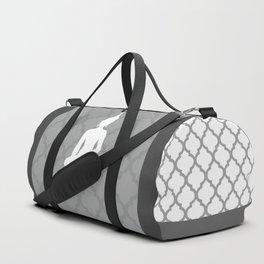 Grey and White Buddha Duffle Bag