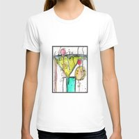 martini T-shirts featuring Dirty Martini by Ingrid Padilla