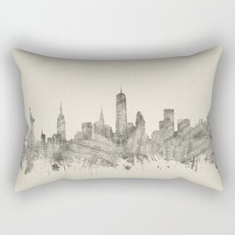 new york skyline music 2 Rectangular Pillow