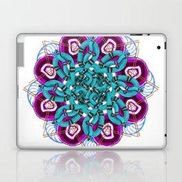 turquoise snakes mandala Laptop & iPad Skin