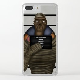 Mummy mugshot Clear iPhone Case