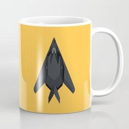 F-117 Nighthawk Stealth Jet Aircraft - Yellow Coffee Mug