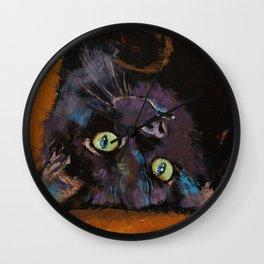 Upside Down Kitten Wall Clock