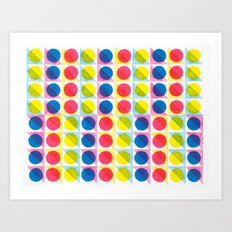 Primary Dots Art Print