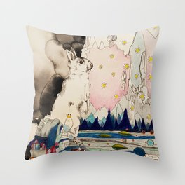 an ordinary day Throw Pillow